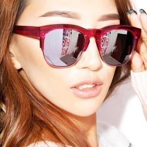 Wildfox Clubfox pink mirror sunglasses SG